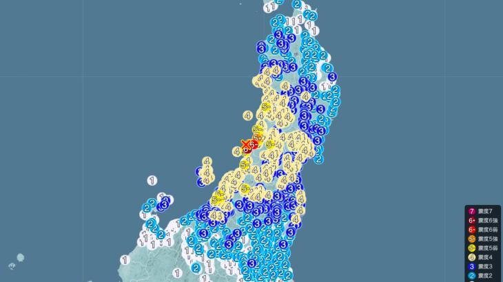 【6月18日】新潟県で震度6弱!震源地は山形県沖!津波注意報発令中!