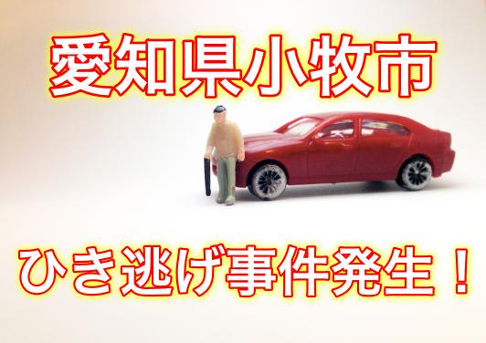 【衝撃!】愛知県小牧市のひき逃げ事件の場所は?飲酒運転をした?
