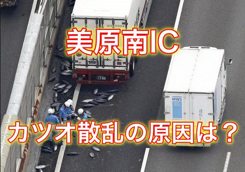 【動画あり】阪和道でカツオが散乱している場所は?原因はなに?渋滞が発生!