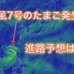【2019年】台風7号のたまごの進路は?米軍と気象庁から徹底予想!
