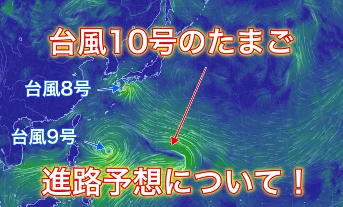 【2019年】台風10号のたまごの進路予想は?米軍と気象庁の情報からご紹介!