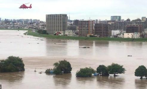 台風19号の東京の川が氾濫した様子がヤバイ!Twitterから紹介します!